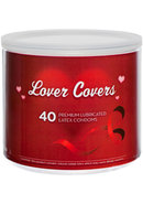 Lover Covers Mixed Lubricated Latex Condoms 40 Each Per Tin...